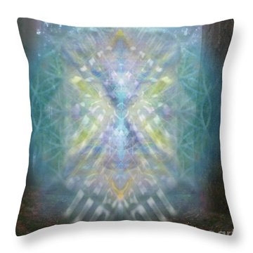 Chalice-tree Spirit In The Forest V1 Throw Pillow by Christopher Pringer