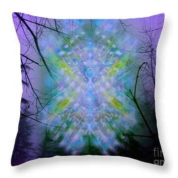 Chalice-tree Spirit In The Forest V1a Throw Pillow by Christopher Pringer