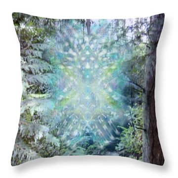 Chalice-tree Spirit In The Forest V3 Throw Pillow by Christopher Pringer