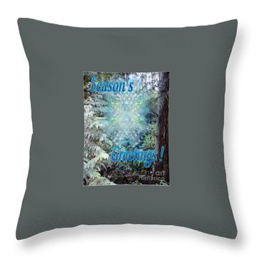Chalice-tree Spirit In The Forest V3 Holiday Card Throw Pillow by Christopher Pringer
