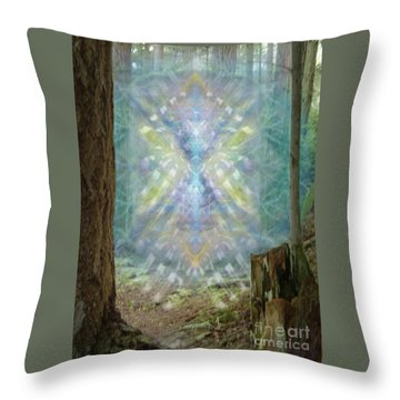 Chalice-tree Spirt In The Forest V2 Throw Pillow by Christopher Pringer