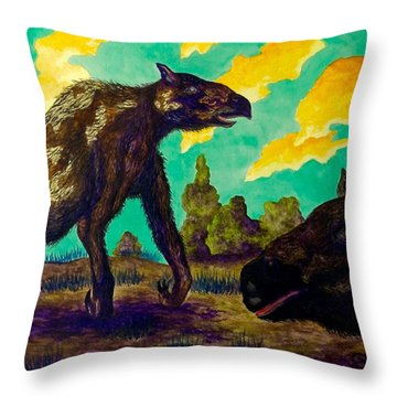 Chalicothere Throw Pillow