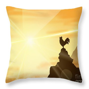 Challenge The Sun Throw Pillow