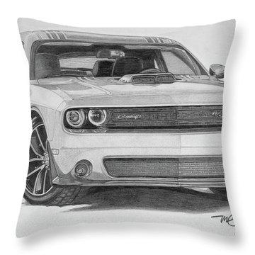 Challenger R/t Throw Pillow
