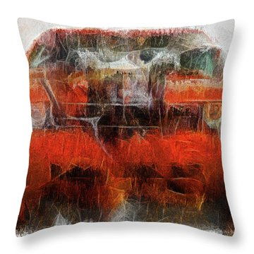 Challenger Wash Throw Pillow