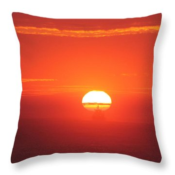 Challenging The Sun Throw Pillow