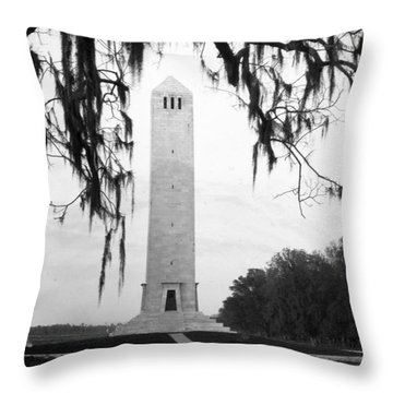 Chalmette Battlefield Monument  Throw Pillow