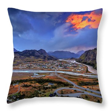 Chalten-03 Throw Pillow by Bernardo Galmarini