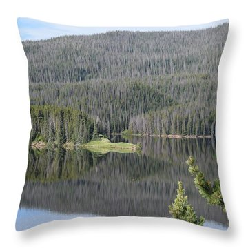 Chambers Lake Hwy 14 Co Throw Pillow
