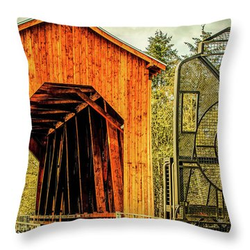 Chambers Railroad Bridge Throw Pillow