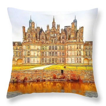 Chambord Castle Throw Pillow