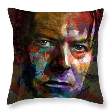 Chameleon, Comedian, Corinthian And Caricature Throw Pillow