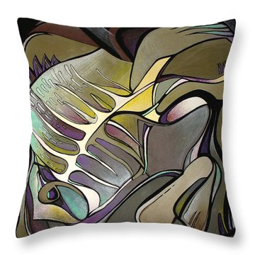 Chameleon Fish Throw Pillow by Deyana Deco