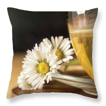 Throw Pillow featuring the photograph Chamomile by Traven Milovich