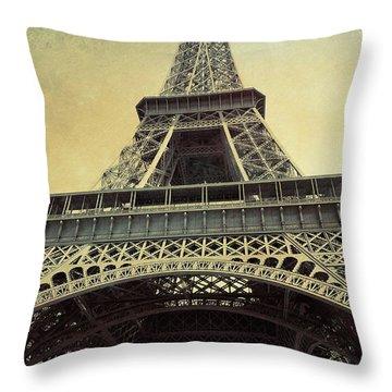 Champ De Mars Grunge Throw Pillow