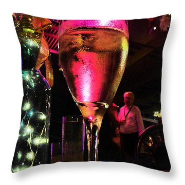 Throw Pillow featuring the photograph Champagne And Jazz by Lori Seaman