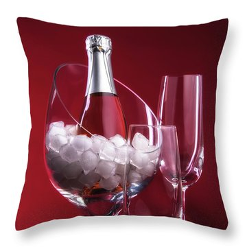 Throw Pillow featuring the photograph Champagne For Two by Tom Mc Nemar