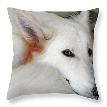 Champanie Janie Throw Pillow
