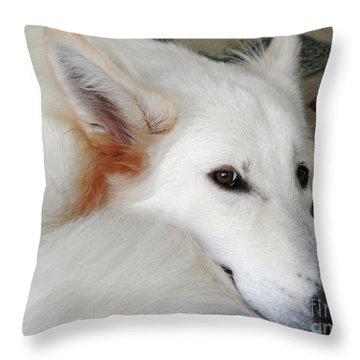 Champanie Janie Throw Pillow