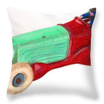 Champion Racer Throw Pillow by Glenda Zuckerman