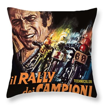 Champions Rally Throw Pillow by Gary Grayson