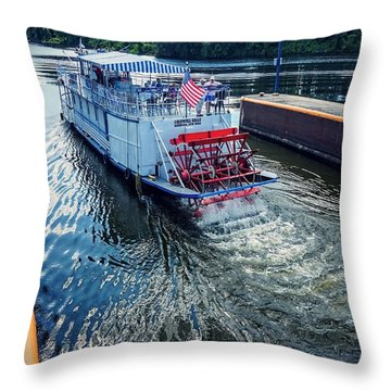 Champlain Canal Patriot Throw Pillow