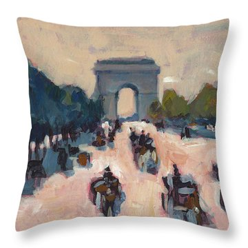 Champs Elysees Paris Throw Pillow