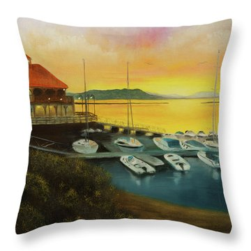 Champs Sunset Throw Pillow