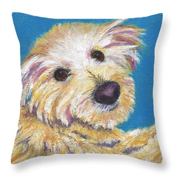 Throw Pillow featuring the painting Chance by Jamie Frier