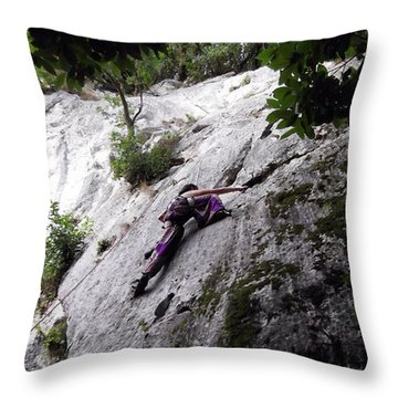 Chanced Upon Some Climbers While Throw Pillow