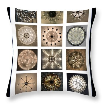 Chandeliers From Chicago Poster Throw Pillow