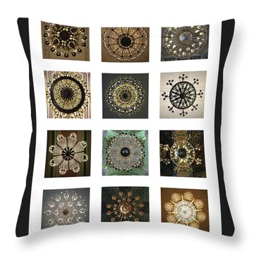 Collection Poster Chandeliers From Russia Throw Pillow
