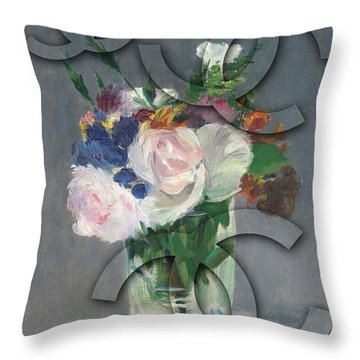 Chanel Camouflage-10 Throw Pillow