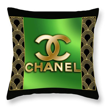 Throw Pillow featuring the digital art Chanel - Chuck Staley by Chuck Staley