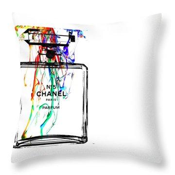 Chanel Throw Pillow by Daniel Janda