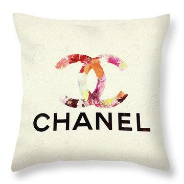 Chanel Floral Texture  Throw Pillow