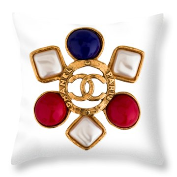 Chanel Jewelry-14 Throw Pillow