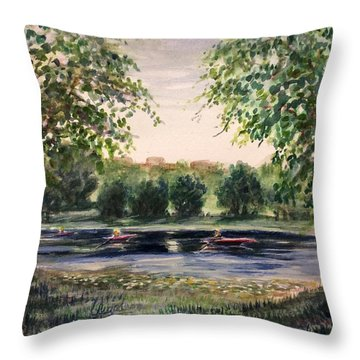 Channel At The Lake Of Isle - Minneapolis  Throw Pillow