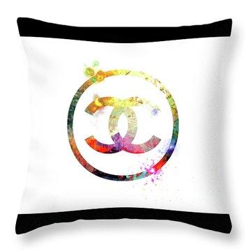Chanel Logo Throw Pillow