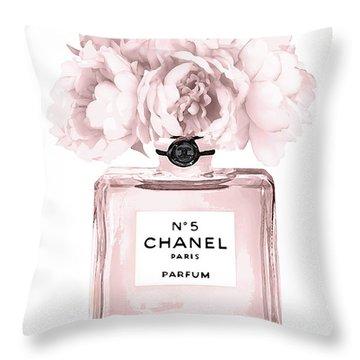 Chanel N.5 Perfume 9 Throw Pillow