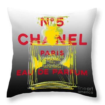 Chanel  No. 5 Pop Art - #1 Throw Pillow