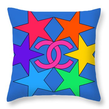 Chanel Stars-15 Throw Pillow