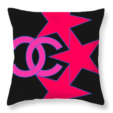 Chanel Stars-9 Throw Pillow