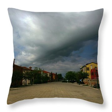 Throw Pillow featuring the photograph Change In The Weather by Anne Kotan
