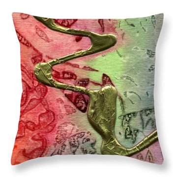 Throw Pillow featuring the mixed media Changes by Angela L Walker