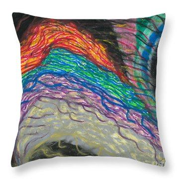 Throw Pillow featuring the painting Changes by Ania M Milo