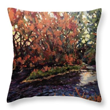 Changing Colors On Boise River Throw Pillow