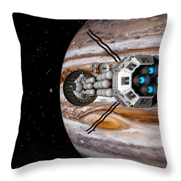 Throw Pillow featuring the digital art Changing Course by David Robinson