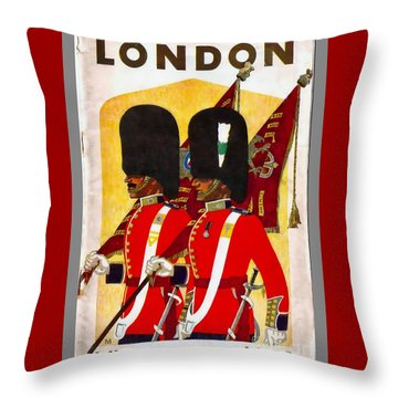 Changing The Guard London - 1937 Throw Pillow