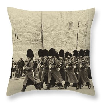 Changing The Guard Windsor Castle Throw Pillow